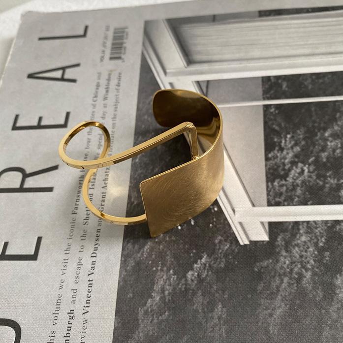 Dabagirl Cutout Detail Wide Cuff Bracelet