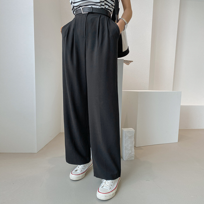 Dabagirl High Waist Pleated Wide-Leg Slacks