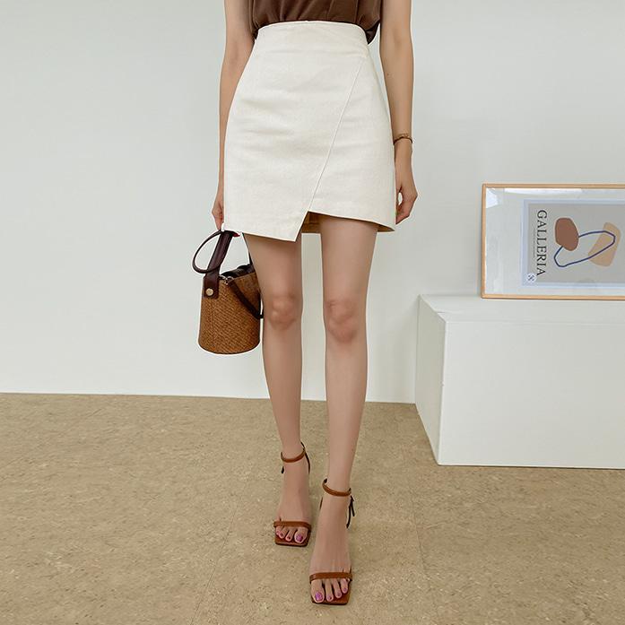 Dabagirl A-Line Asymmetrical Mini Skirt