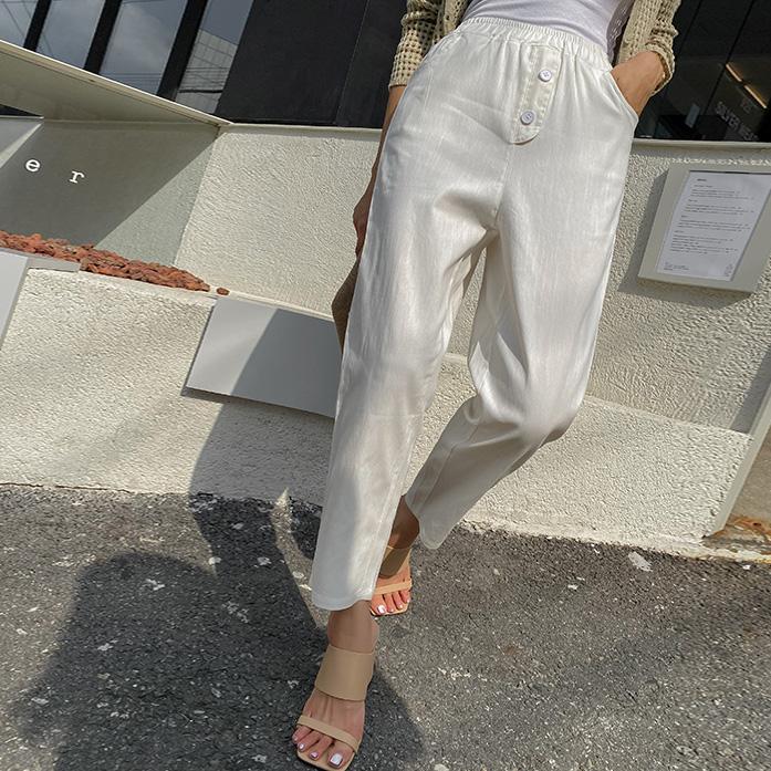 Dabagirl Elastic Waist Tapered Pull-On Pants