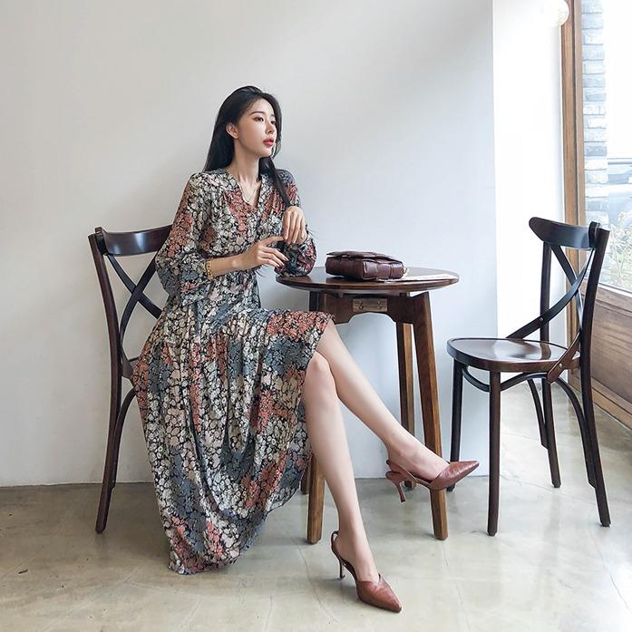 Dabagirl Tie-Waist Midaxi Floral Dress