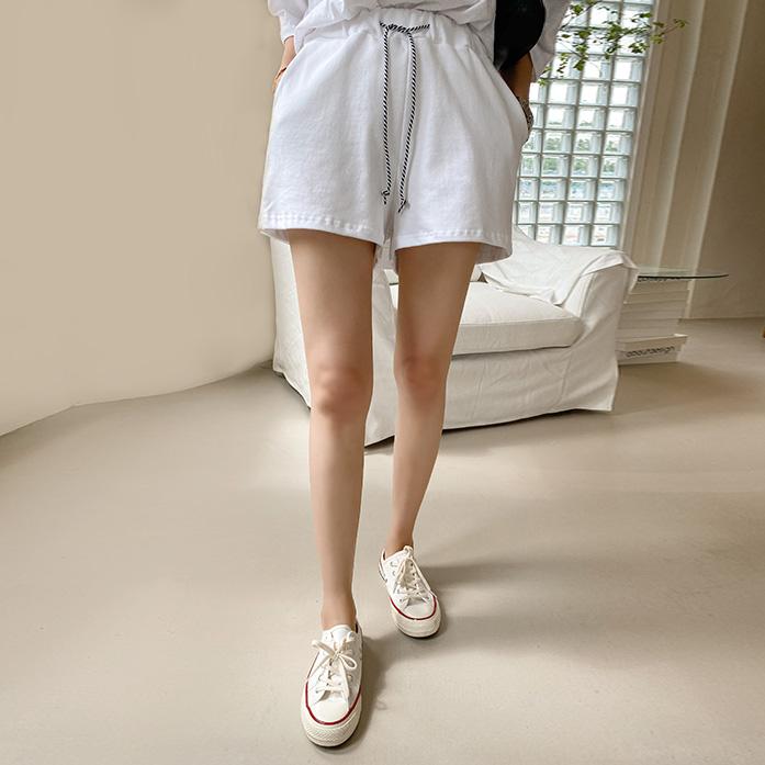 Dabagirl Drawstring Waist Cotton Shorts