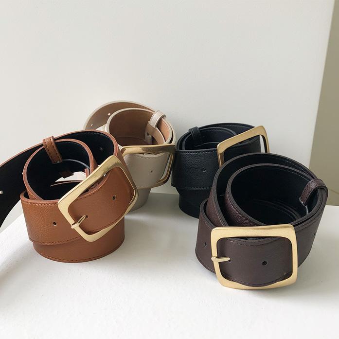 Dabagirl Square Buckle Faux Leather Belt