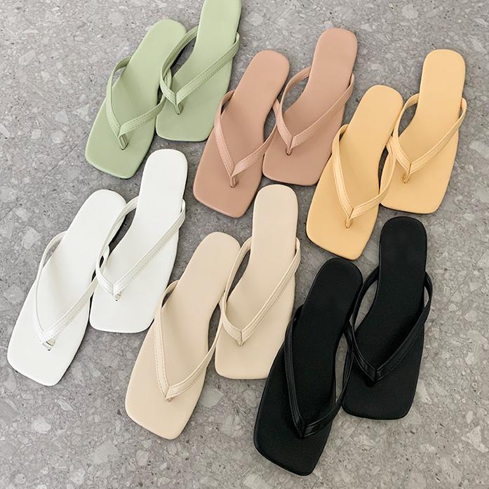 Dabagirl Faux Leather Thong Flip-Flops