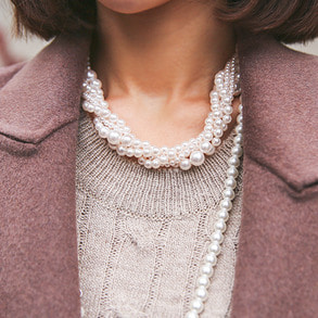 Dabagirl Layered Faux Pearl Necklace