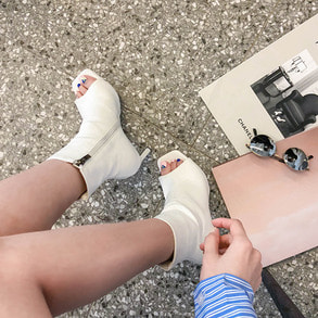 Dabagirl Open Toe Ankle Boots