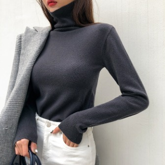 Dabagirl Turtleneck Slim Fit Knit Top