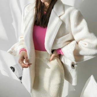 Dabagirl Notched Lapel Textured Blazer