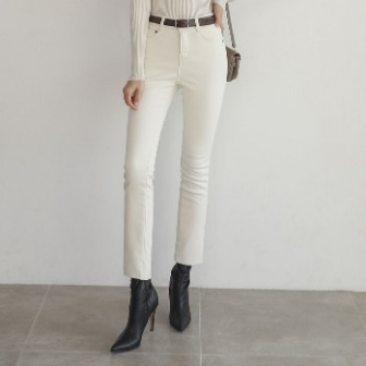 Dabagirl Faux Mink Lining Straight-Cut Pants