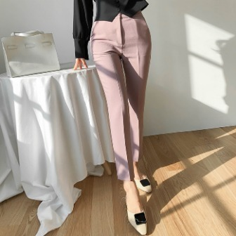 Dabagirl Front Crease Straight-Cut Slacks