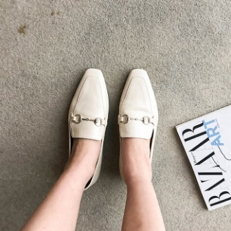 Dabagirl Square Toe Snaffle Loafers