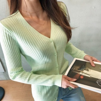 Dabagirl Button-Up Knit Top