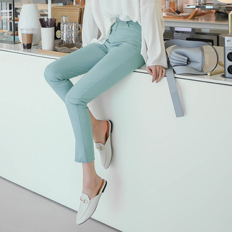 Dabagirl Raw Hem Cotton Blend Pants