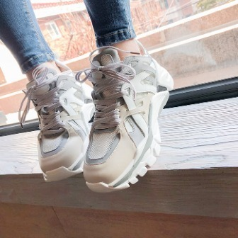 Dabagirl Lace-Up Chunky Panel Sneakers