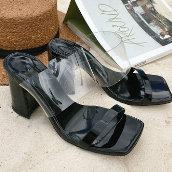 Dabagirl Open Toe Double Strap Mules