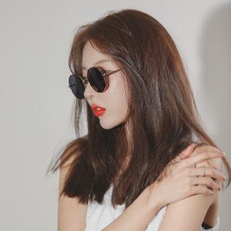 Dabagirl Slim Frame Mirror Lens Sunglasses