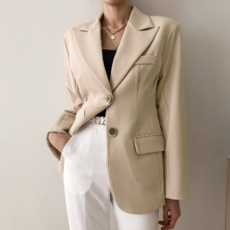 Dabagirl Peak Lapel Single-Breasted Blazer
