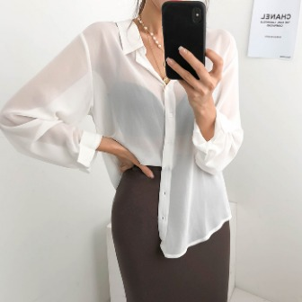 Dabagirl Tie-Back Button-Up Blouse