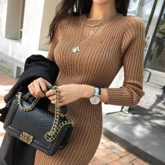 Dabagirl Distressed Bodycon Knit Dress