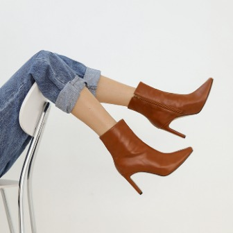 Dabagirl Square Toe Side Zip Ankle Boots