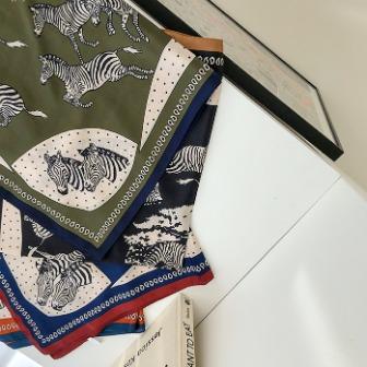 Dabagirl Zebra Print Silk Scarf