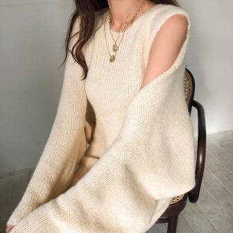 Dabagirl Midi Knit Dress and Cardigan Set