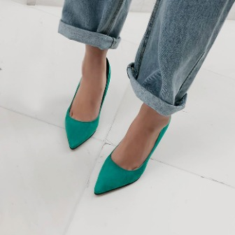 Dabagirl Pointed Toe Leather Pumps