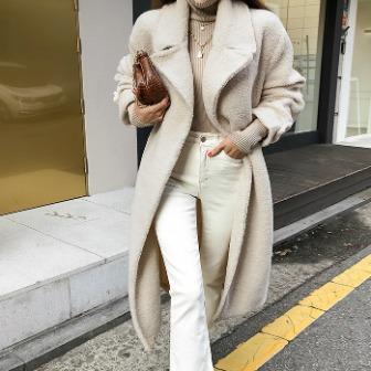 Dabagirl Tie-Waist Sherpa Fleece Coat