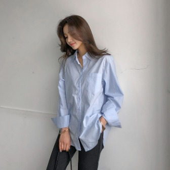 Dabagirl Chest Pocket Buttoned Front Shirt