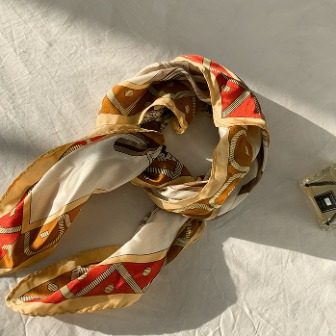 Dabagirl Carriage Print Silk Scarf