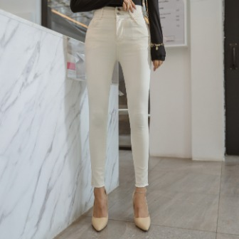 Dabagirl Two Button Skinny Ankle Pants