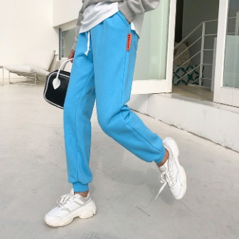 Dabagirl Solid Color Drawstring Jogger Pants
