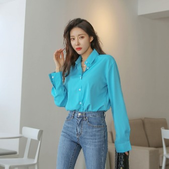 Dabagirl Solid Color Button-Up Shirt