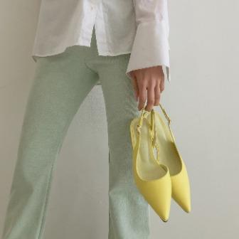 Dabagirl Asymmetric Pointed Toe Slingback Heels