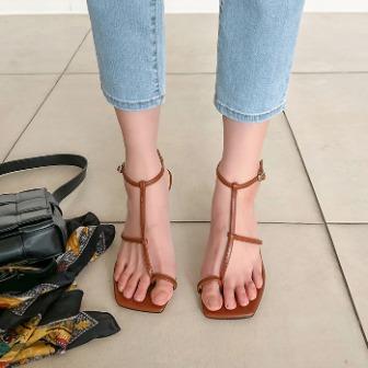 Dabagirl Toe Loop Strappy Heeled Sandals