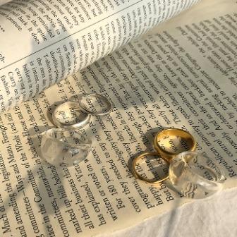 Dabagirl 3-Piece Assorted Ring Set
