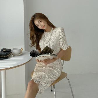 Dabagirl Scallop Trim Lace Dress