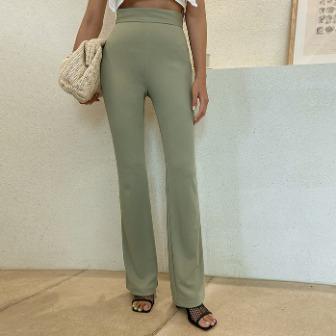 Dabagirl Side Zip Solid Tone Bootcut Pants