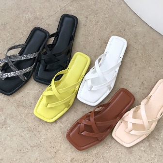 Dabagirl Crisscross Strap Slide Sandals
