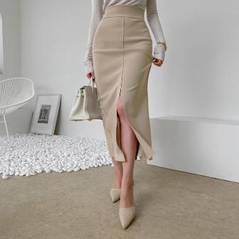 Dabagirl Slit H-Line Midaxi Skirt