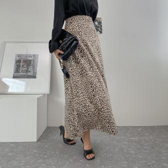 Dabagirl Leopard Maxi Skirt