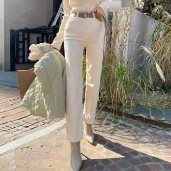 Dabagirl Semi-Elastic Waist Straight Pants