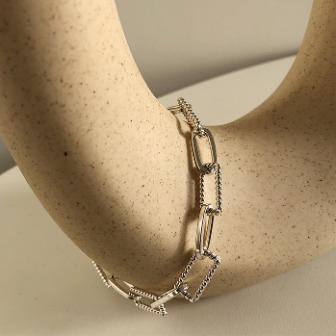Dabagirl Chunky Metallic Chain Bracelet
