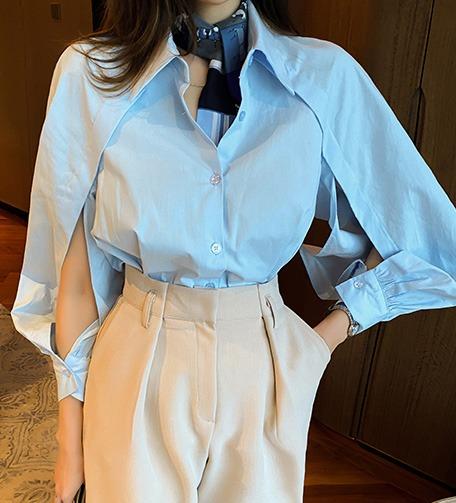 Dabagirl Split Raglan Sleeve Shirt