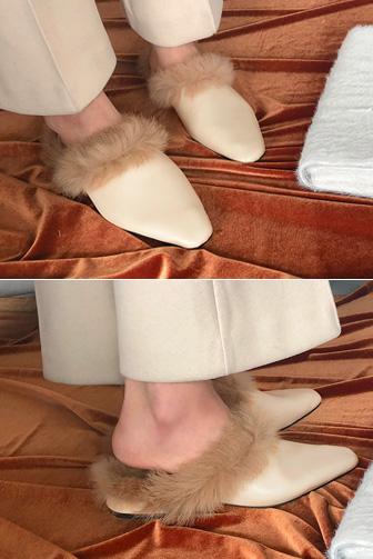 Dabagirl Fuzzy Trim Mules