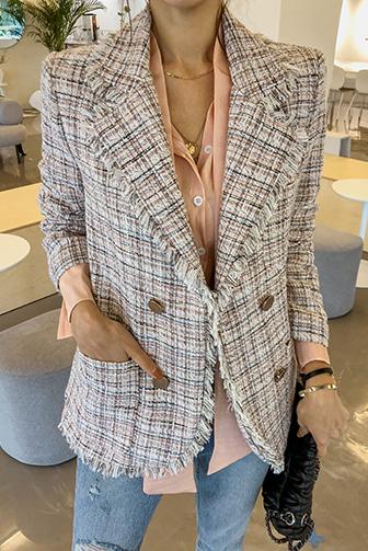 Dabagirl Frayed Tweed Jacket