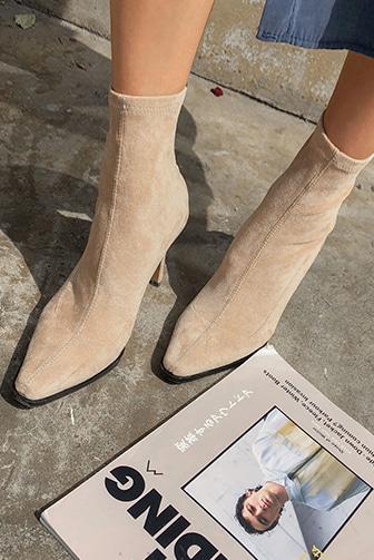 Dabagirl Suede Slim Ankle Boots