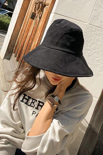 Dabagirl Wide Brim Corduroy Bucket Hat