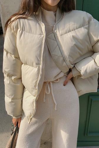 Dabagirl Zip-Up Long Sleeve Puffer Jacket