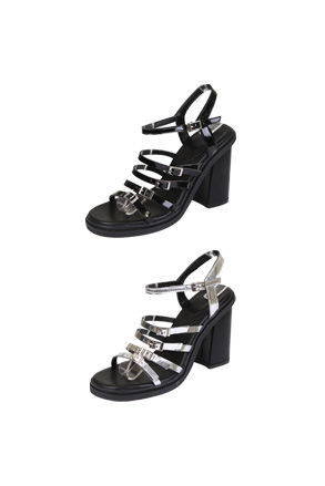 dff05d382bdb Dabagirl Glossy Strap Block-Heeled Sandals